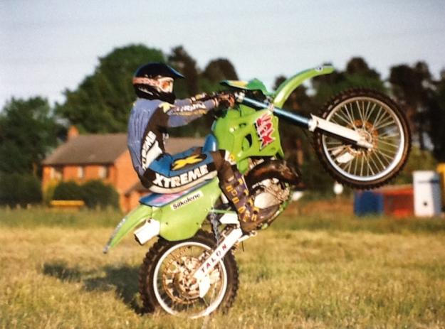 Fiona Beale on her Kawasaki KDX250(c)